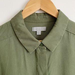 COS green button up long tunic